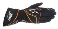 Alpinestars Tech 1-KX перчатки картинг черный/оранжевый р-р 10 (L)
