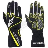 Alpinestars Tech 1-K Race перчатки картинг черный/красный/желтый р-р 10 (L)