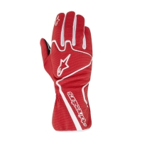 Alpinestars Tech 1-K Race перчатки картинг красный/белый р-р 9 (M)