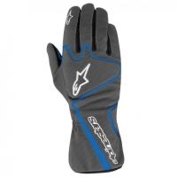 Alpinestars Tech 1-K Race перчатки картинг снинй антрацит р-р 10 (L)