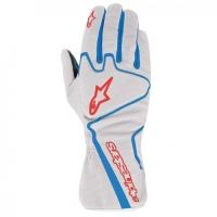 Alpinestars Tech 1-K Race перчатки картинг серебристый/снинй/красный  р-р 8 (S)