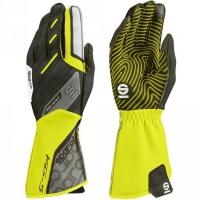 Sparco KG-5 перчатки картинг желтый/черный р-р 9 (M)