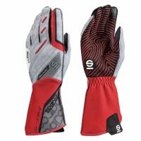 Sparco KG-5 перчатки картинг красный/серый р-р 10 (L)