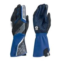 Sparco KG-5 перчатки картинг снинй/черный р-р 10 (L)