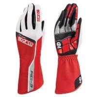Sparco KG-3 перчатки картинг красный/белый/черный р-р 10 (L)