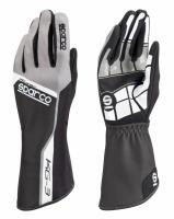 Sparco KG-3 перчатки картинг серый/черный р-р 09 (M)