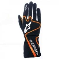 Alpinestars Tech 1-K Race перчатки картинг черный/оранжевый р-р 11 (XL)