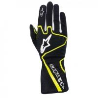 Alpinestars Tech 1-K Race перчатки картинг черный/желтый р-р 8 (S)
