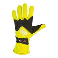 OMP KS-4 перчатки для картинга ,желтый неоновый, р-р XS