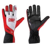 OMP KS-3 перчатки для картинга, красный/белый/черный, р-р M